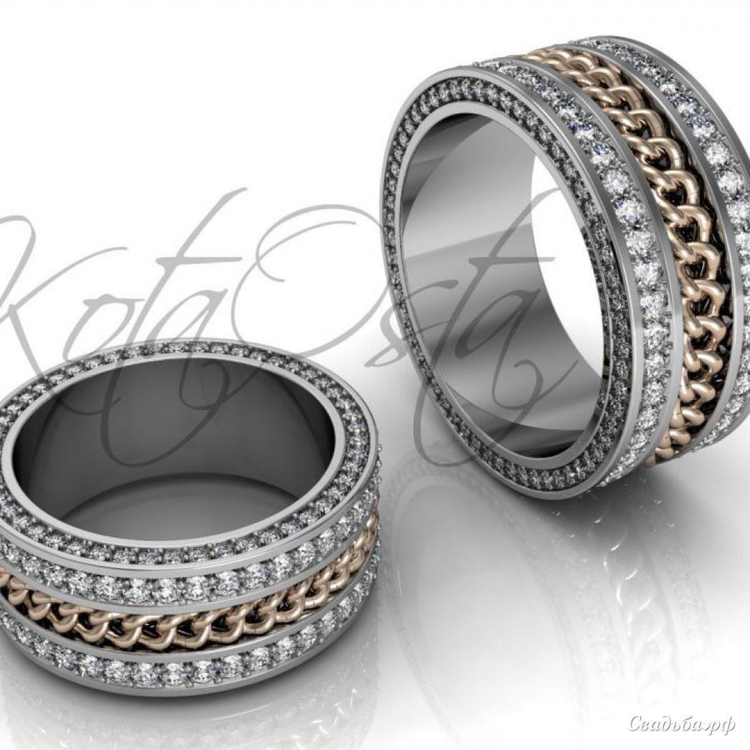Купить обручальные кольца З226 (Италия, материал: белое золото, с фианитами) - Ювелирный салон Золотая лилия